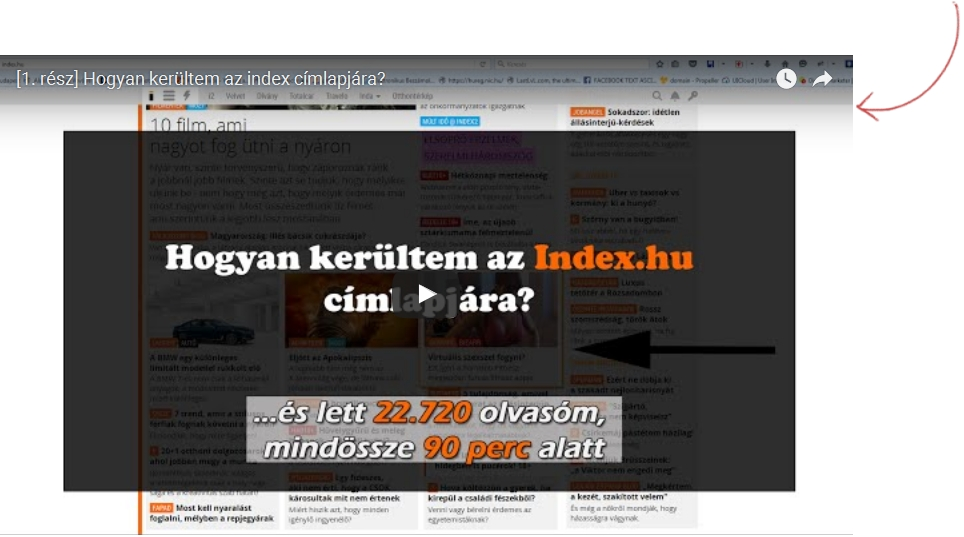 Így kerülhetsz az index.hu címlapjára.